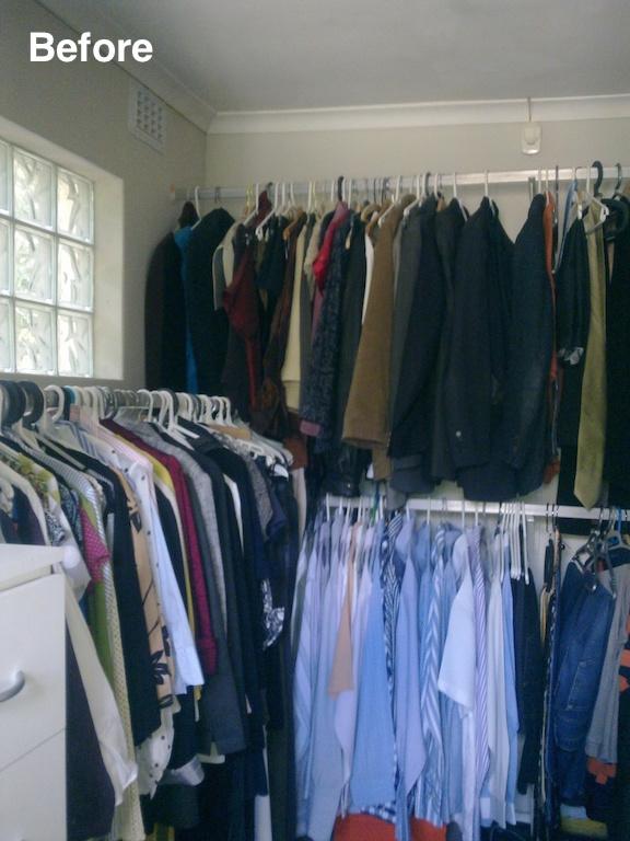 wardrobe before
