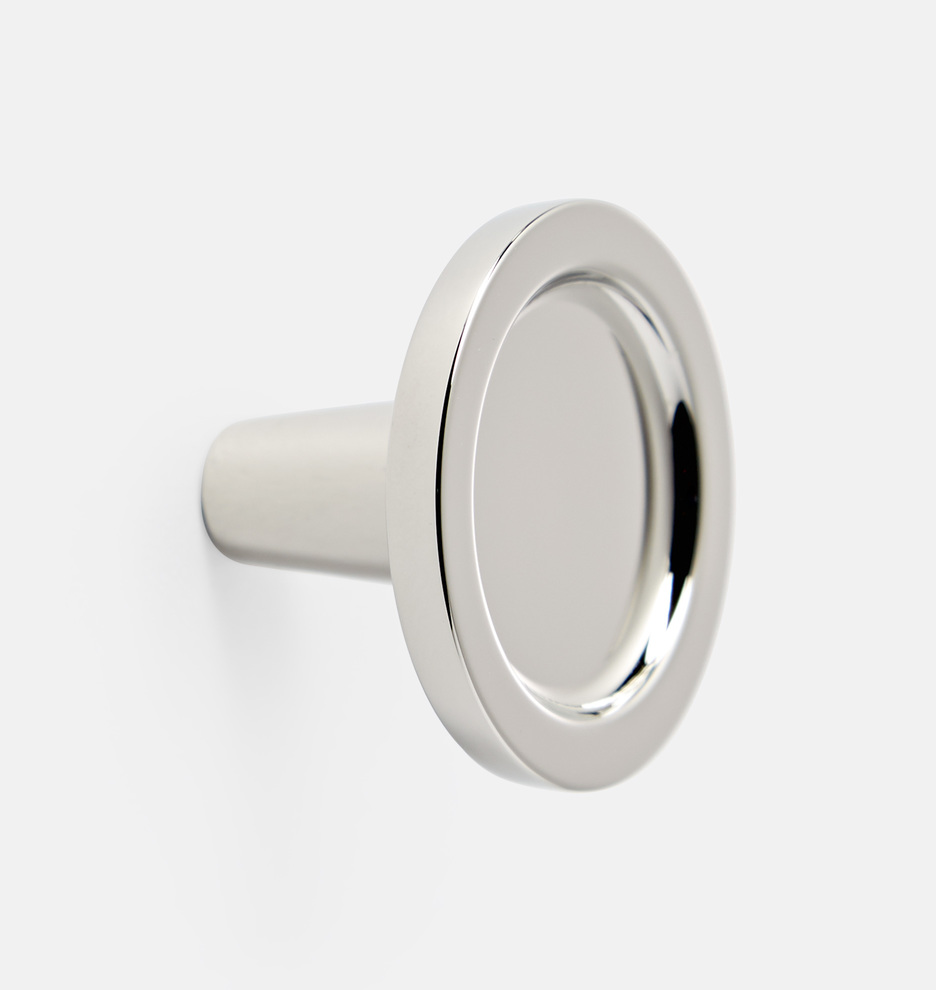 Kitchen upgrade cabinet hardware contemporary elegant chrome knob