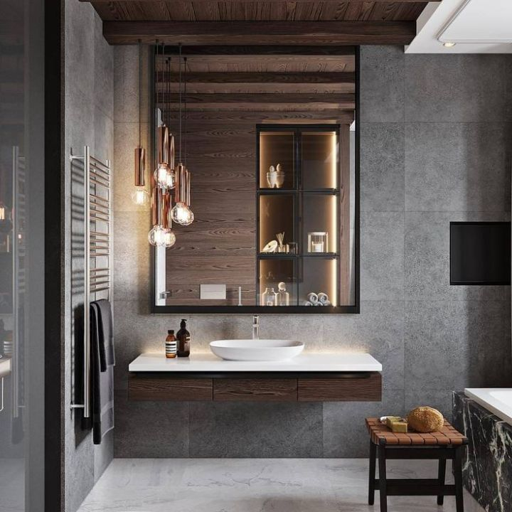 Add more space to your bathroom with uniform walls