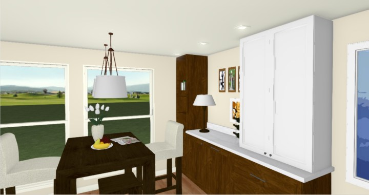 3D drawing for kitchen remodel