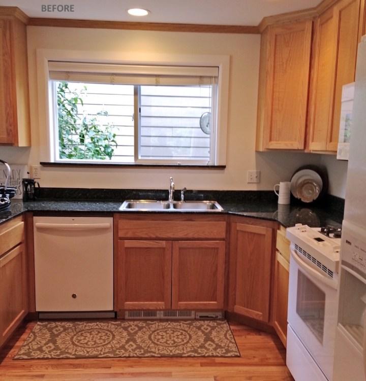 Oak kitchen oak cabinets before upgrade