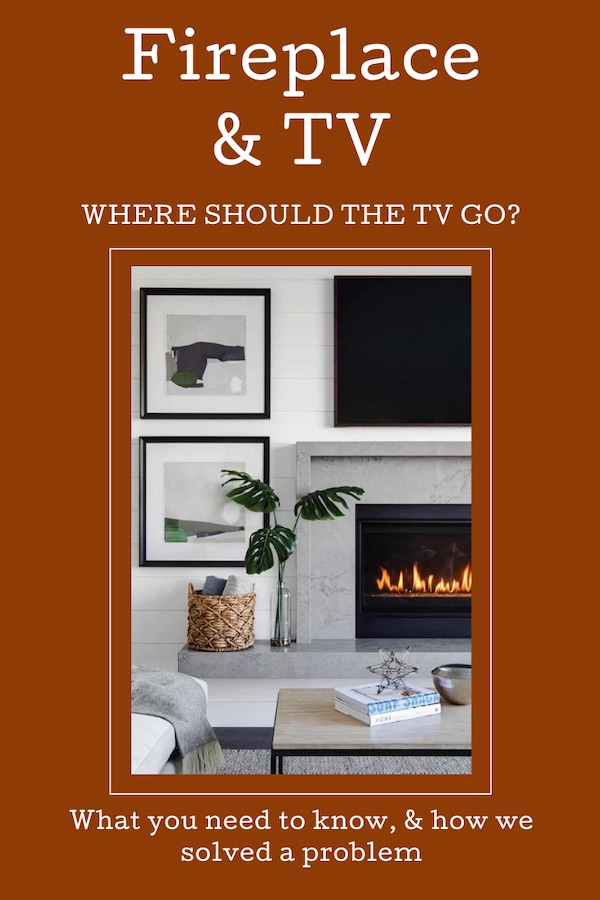 Fireplace and TV should TV go above the fireplace