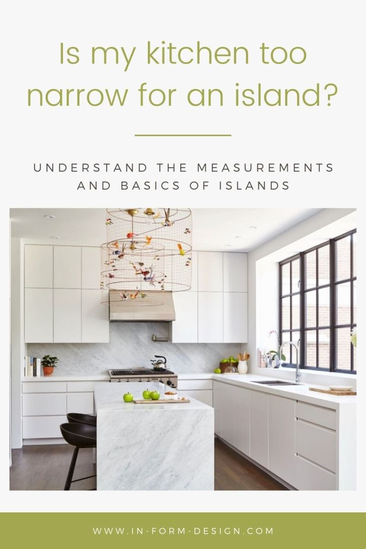 Get the measurements and basics of kitchen islands