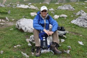 Beim Wandern in den Alpen