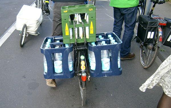 Richtig ausgestattet eignet sich das Fahrrad auch für einen größeren Einkauf.