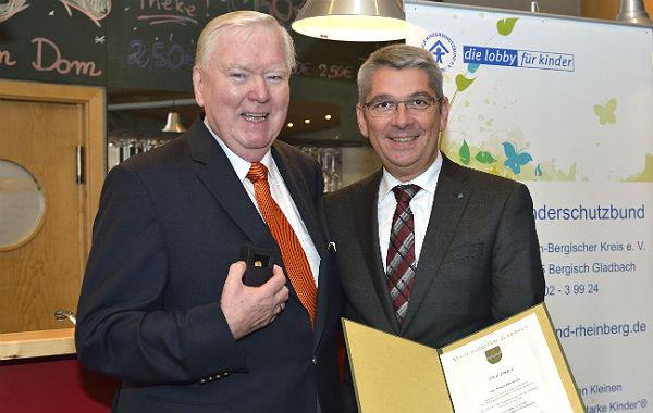 Friedhelm Bilski, langjähriger Vorsitzender des Kinderschutzbundes Bergisch Gladbach
