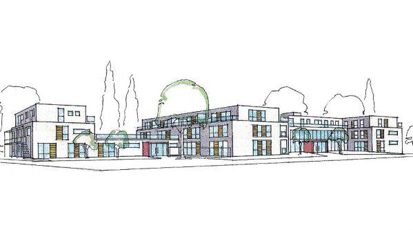 Der Entwurft des Mehrgenerationenhauses, dass mitein-anders in Refrath plant
