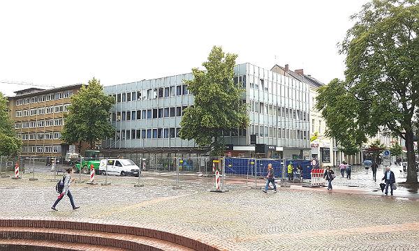 Die neue Baustelle am Marktplatz