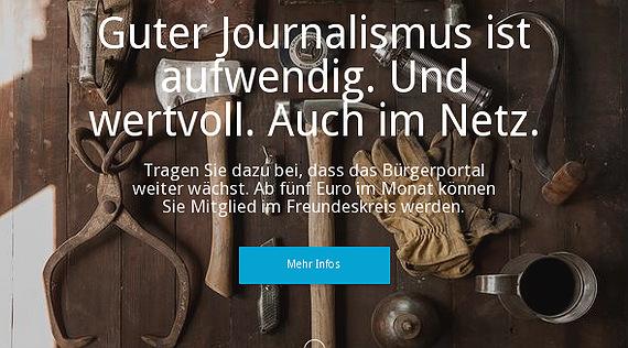 Der Freundeskreis des Bürgerportals Bergisch Gladbach fördert Qualitätsjournalismus im Lokalen
