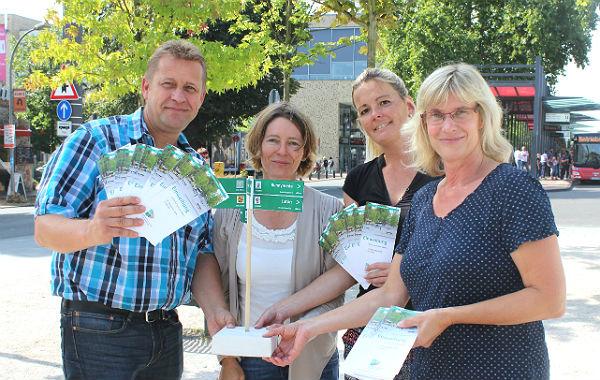 Anne Linden, Tanja Hilgers, Elke Schilde und Stephan Dekker kümmern sich in der Stadtverwaltung um die Städtepartnerschaften