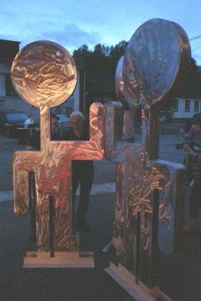 Die Skulptur Jachad von Helmut Brands für Bergisch Gladbachs Partnerstadt Ganey Tikva