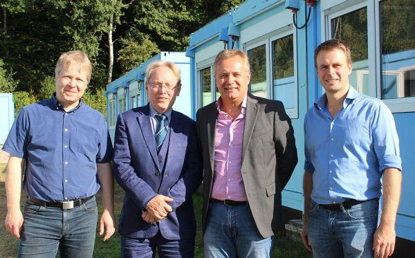 Felix Bertenrath (Schulleiter OHR), Franz-Josef Sulski (Vize.Schulleiter OHG), Bernd Martmann (Co-Dezernent ), Wolfgang Knoch (Schulleiter OHG)