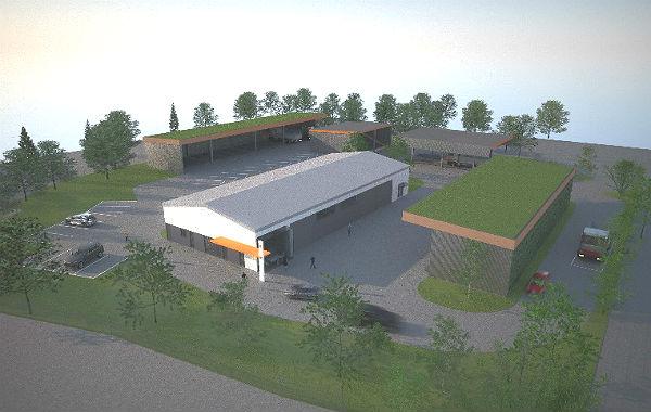 So soll der neue Wertstoffhof in Gronau aussehen. Foto: Entwurf/Stadt GL