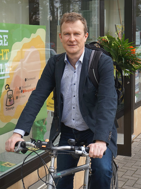 Maik Außendorf tritt für die Grünen bei der Bundestagswahl im Wahlkreis 100 (Rheinisch-Bergischer Kreis) an