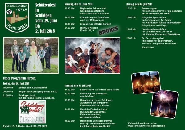 Das Schützenfest findet parallel zum Dorffest in Schildgen statt.