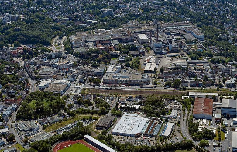 Luftaufnahme der Bergisch Gladbacher Innenstadt. Foto: REGIONALE 2025 Agentur GmbH