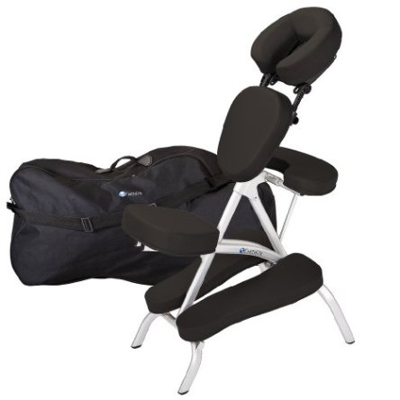 Earthlite Vortex Portable Massage Chair Package – Lightweight and Compact, Aircraft Aluminum Frame, incl. Carry Case, only 15 lbs.