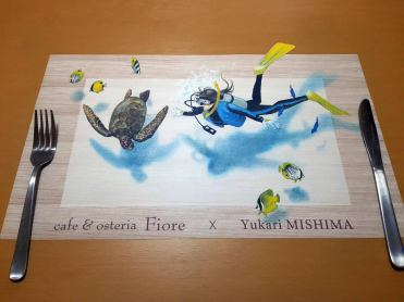 """3D"" Place Mat for Cafe & Osteria Fiore"