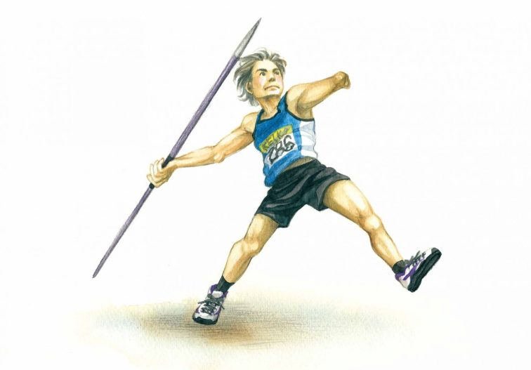 A Javelin Thrower of Para Athletics