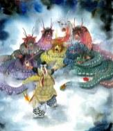 """A Kagura Dance Program """"Yamata-no-Orochi"""""""