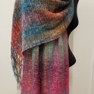 Uluru-Rainbow-shawl-Waratah-Bouquet