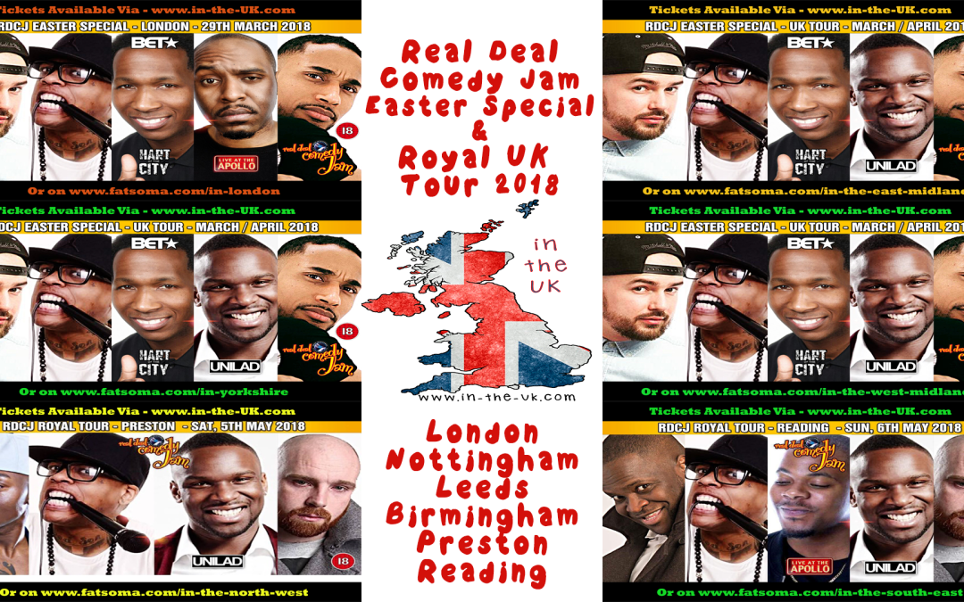 Read Deal Comedy Jam Easter Special and Royal UK Tour 2018