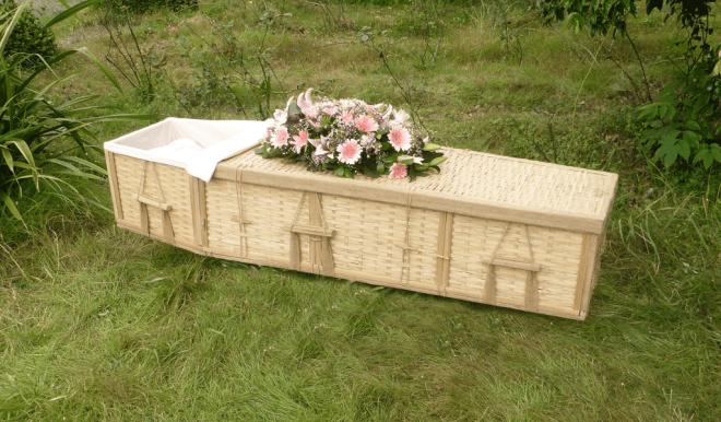 bamboo wicker casket