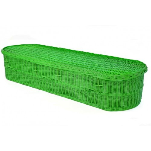 Green willow weave coffin