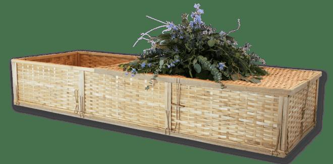 bamboo cremation casket