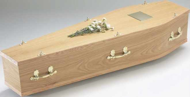 UK coffin with rounded edges