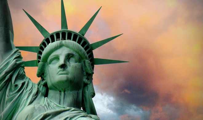 Patinated Statue of Liberty