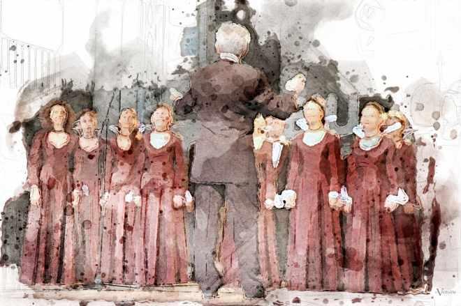 Conducting Choir of Hymn