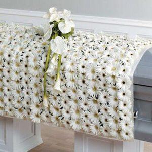White Funeral Casket Blanket for Dad