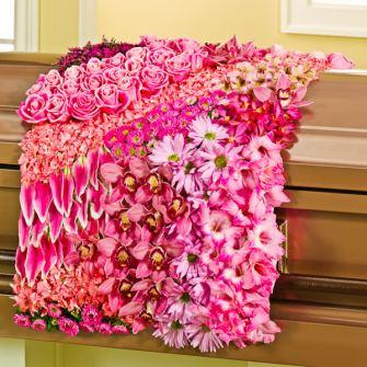 Pink Casket Blanket for Mom