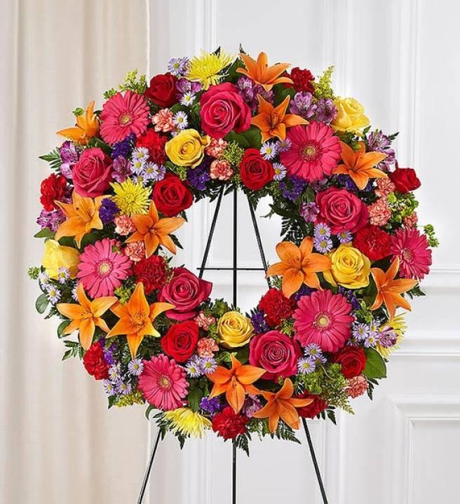 Serene Blessings™ Standing Wreath - Bright