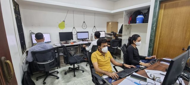 Instance IT Solutions staff at work