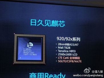 Huawei Kirin 920: 8 πυρήνες σε διάταξη big.LITTLE