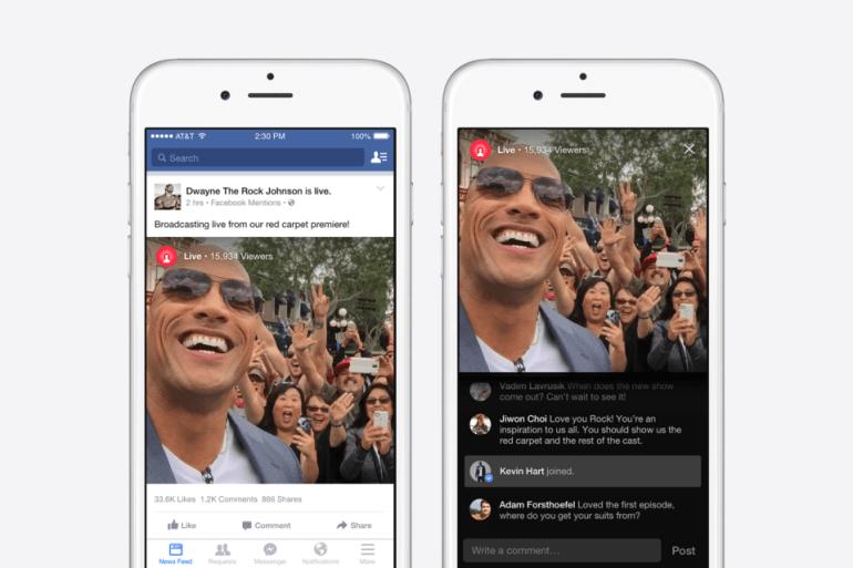 Facebook: Ζωντανή μετάδοση Video για διασημότητες