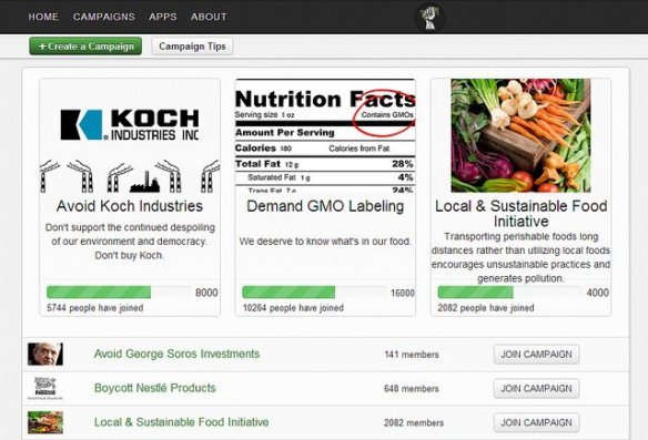 Buycott is a free smartphone app that allows you to scan any given product at the grocery store and not only tells you which foods are ultimately linked to Monsanto and their GMO's but also companies who are engaging in cruelty to animals or other negative behaviors.