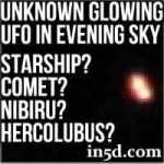 Unknown Glowing Light In Evening Western Sky - Starship? Comet? Nibiru? Hercolubus?