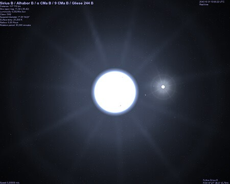 two stars in the Sirius star system