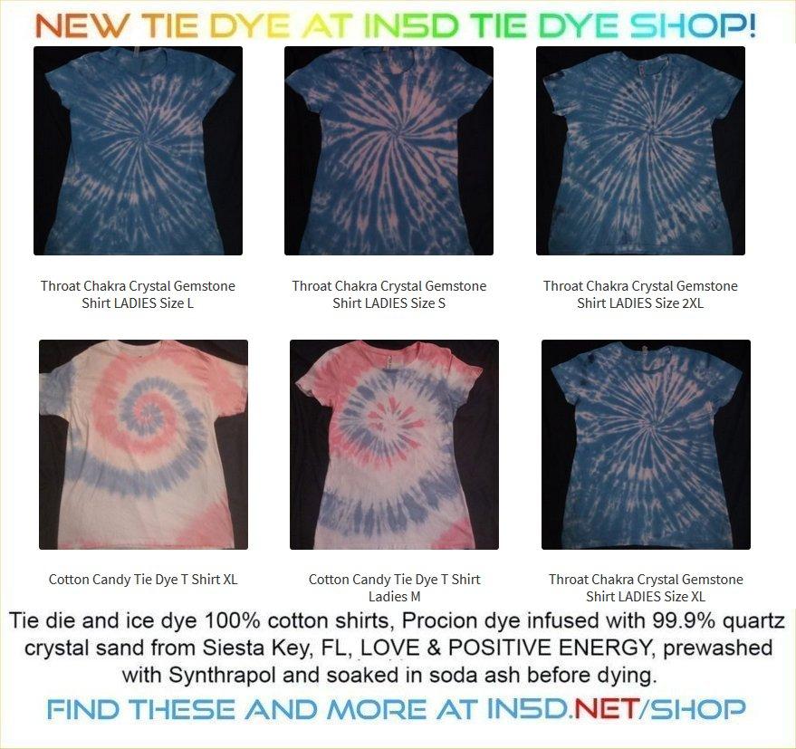 Ladies Throat Chakra Crystal & Gemstone Quantum Tie Dye