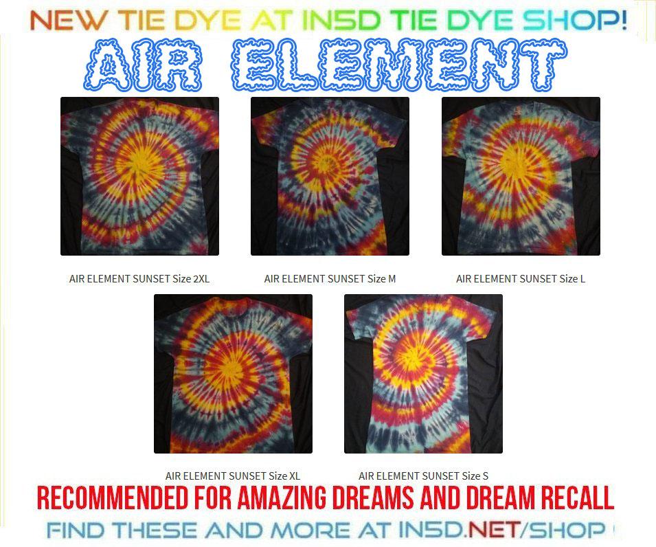 NEW AIR Element Quantum Tie Dye shirts