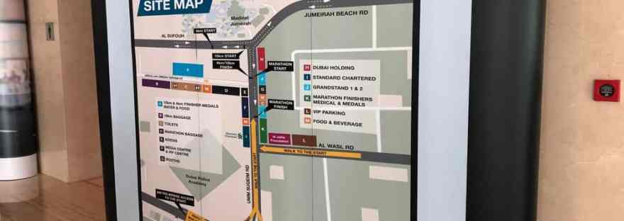 Site Map Dubai Marathon 2019