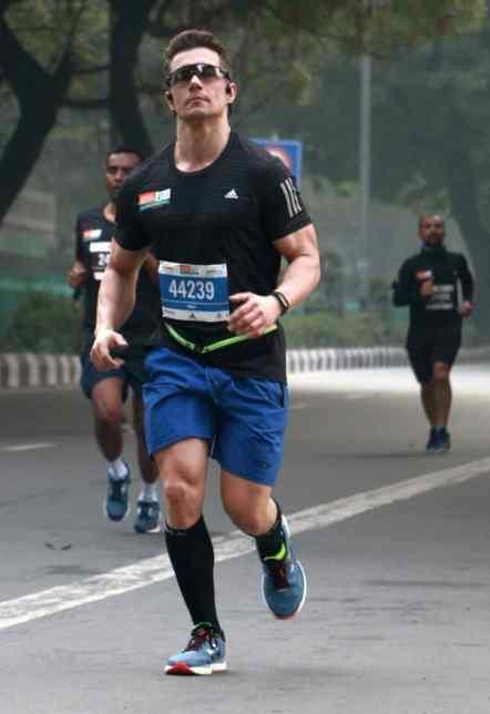 Rennfoto vom Neu Delhi Marathon 2019