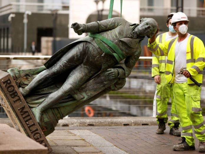 A statue of slave owner Robert Milligan was removed from its plinth in east London on June 9, 2020. - Copyright Flickr