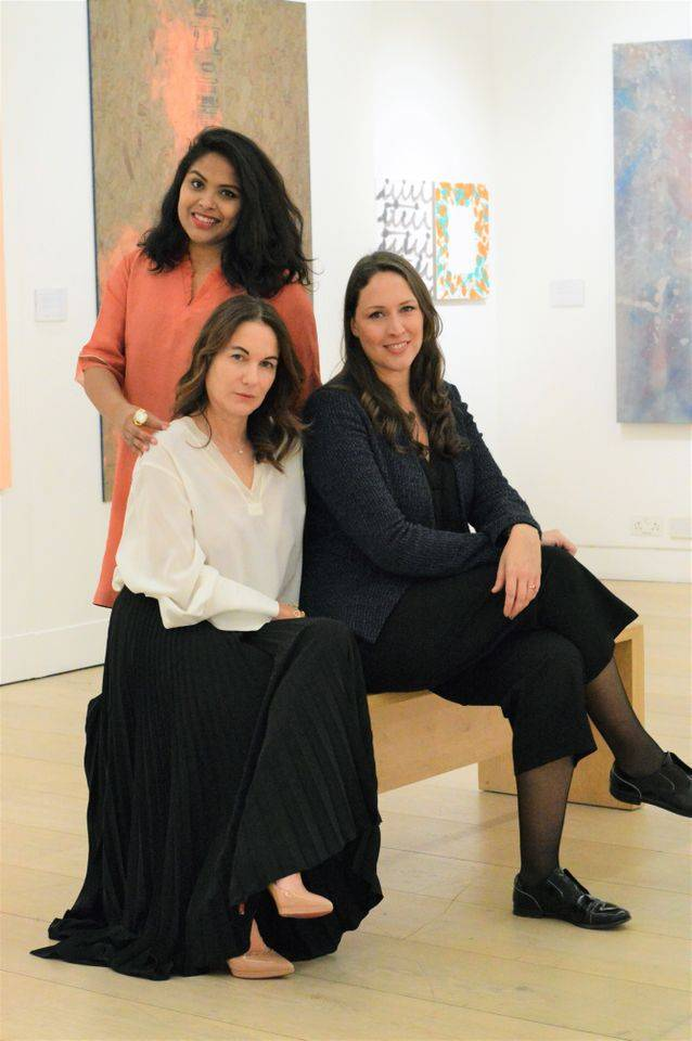 The Kovet.Art team: Saras Rachupalli, Camilla Grimaldi and Averil Curci Courtesy of Kovet.Art