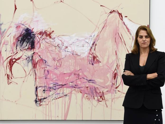 Tracey Emin opens her exhibition at the White Cube Bermondsey, London, 2019. Photo: Facundo Arrizabalaga/EPA