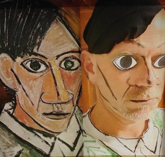 Doug McAbee redoes Pablo Picasso's cubist self-portrait from 1907