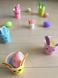 イースターエッグの卵入れゲーム